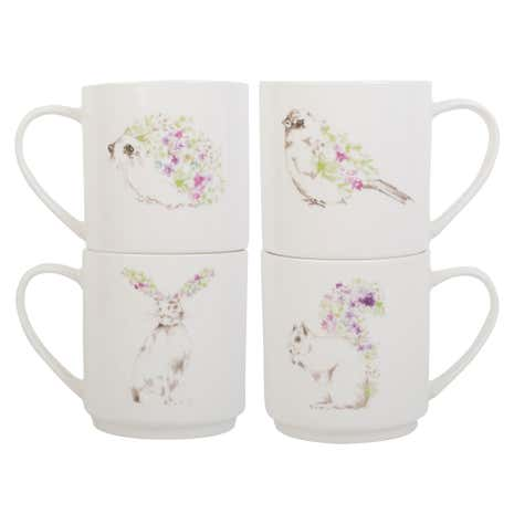 Woodland Animals Stacking Mugs