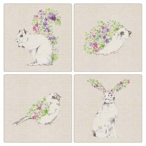 Pack of 4 Woodland Animals Placemats
