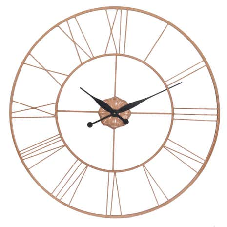 Copper Galvanised Clock