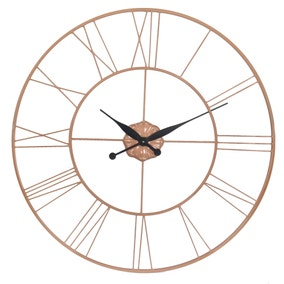 Good Copper Galvanised Oversized Wall Clock