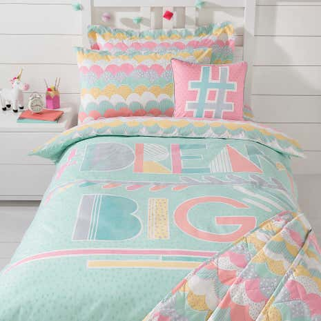 Dream Big Duvet Cover and Pillowcase Set