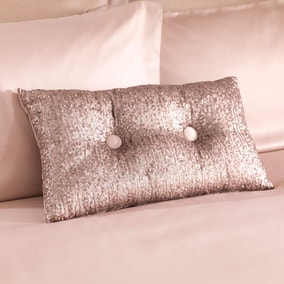 Adele Sequin Champagne Boudoir Cushion