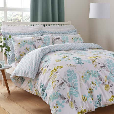 Anya Green Duvet Cover and Pillowcase Set