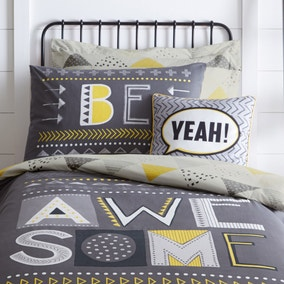 Be Awesome Square Cushion