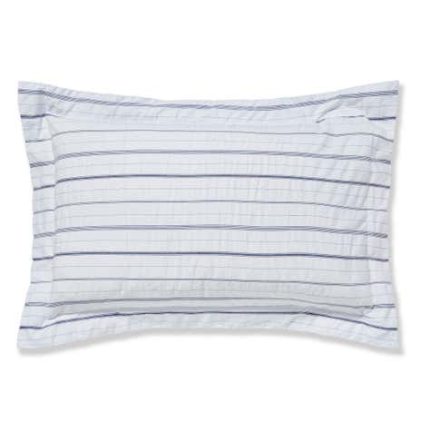 Colton Pinstripe White Oxford Pillowcase