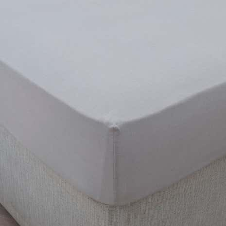 Dorma 100% Linen Grey 32cm Fitted Sheet
