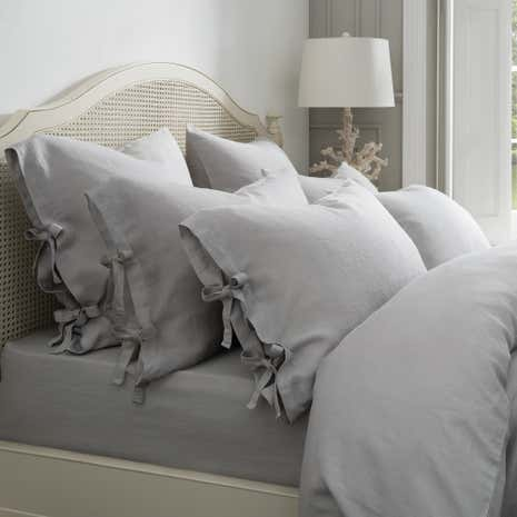 Dorma 100% Linen Grey Continental Pillowcase
