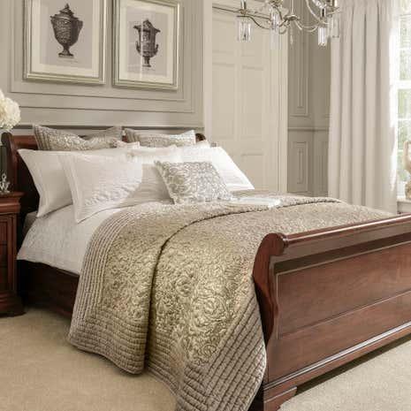 Dorma Charlbury Champagne Bedspread Dunelm