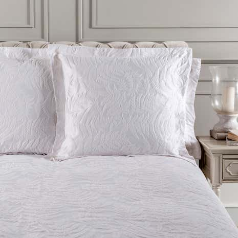 Dorma Fern White Continental Pillowcase