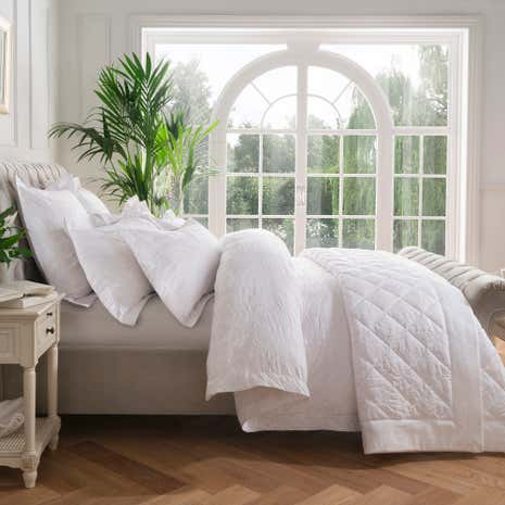 Dorma Fern White Duvet Cover