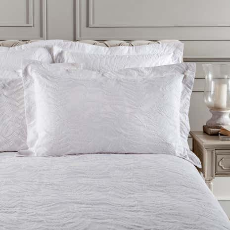Dorma Fern White Oxford Pillowcase
