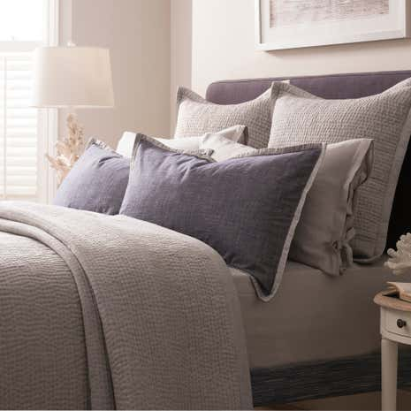 Dorma Hampton Grey Continental Pillowcase