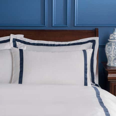 Dorma Maddison Navy Cuffed Pillowcase