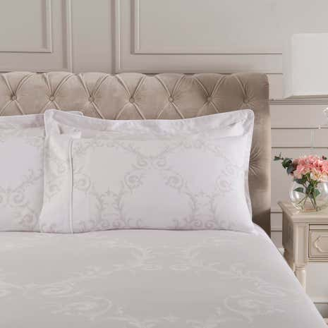Dorma Palais Grey Cuffed Pillowcase