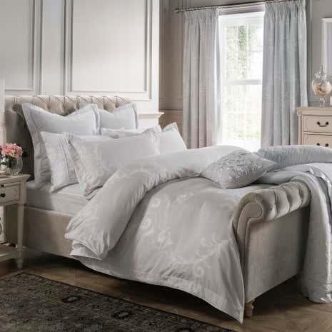 Dorma Palais 100 Cotton Grey Duvet Cover