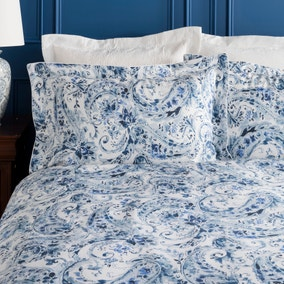 Dorma Vermont Blue Oxford Pillowcase