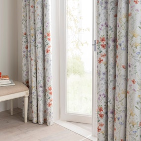 Dorma Wildflower Blackout Pencil Pleat Curtains