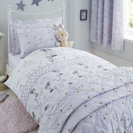 Dreamy Days Lilac Duvet Cover and Pillowcase Set