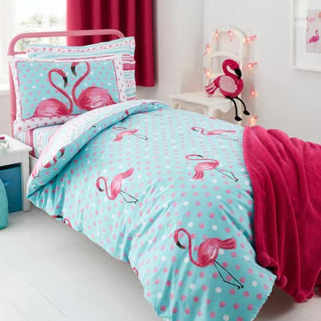 Flamingo Fever Duvet Cover and Pillowcase Set