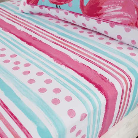 Flamingo Fever Fitted Sheet