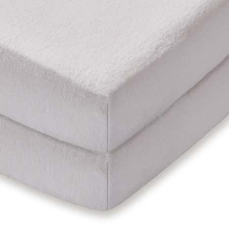 Kids Pair of Fitted 100% Cotton Flannelette Cot Sheet