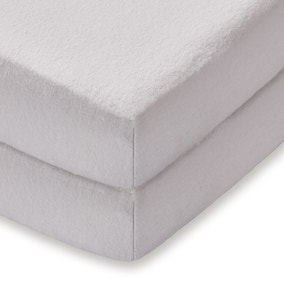 Flannelette Cot Fitted Sheet Pair