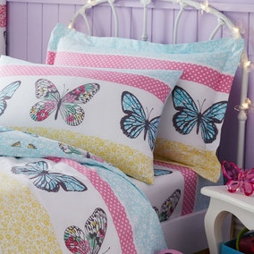 Floral Butterfly Oxford Pillowcase
