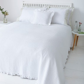 Florence White Square Cushion