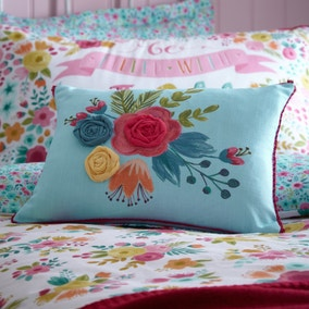 Friends and Flowers Cushion