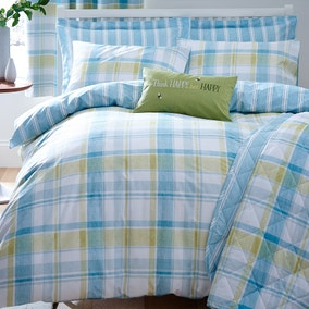 Harrison Check Teal Bedspread