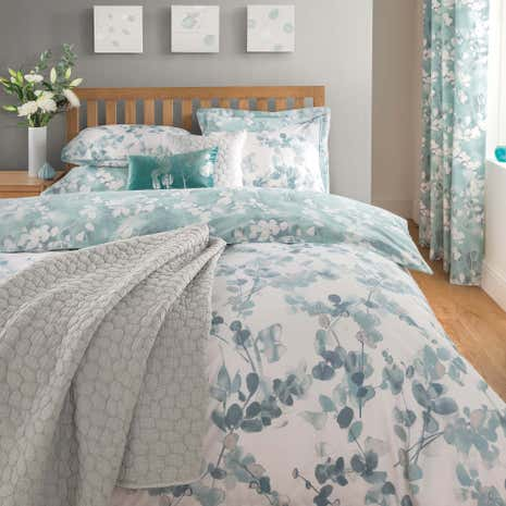 Honesty Teal Duvet Cover and Pillowcase Set