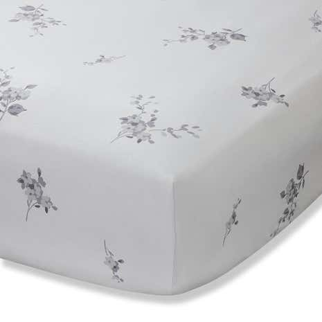 Laura Grey 28cm Fitted Sheet