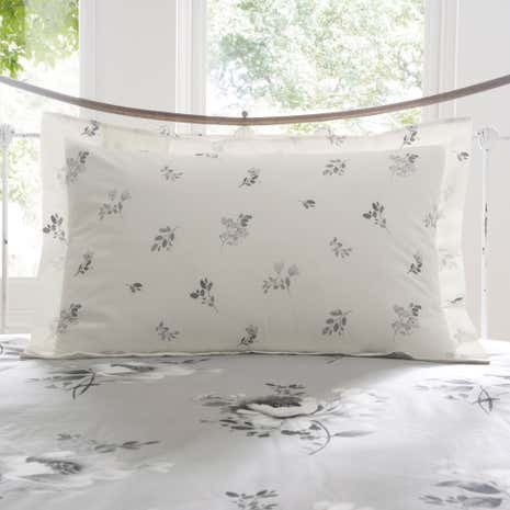 Liana Grey Oxford Pillowcase