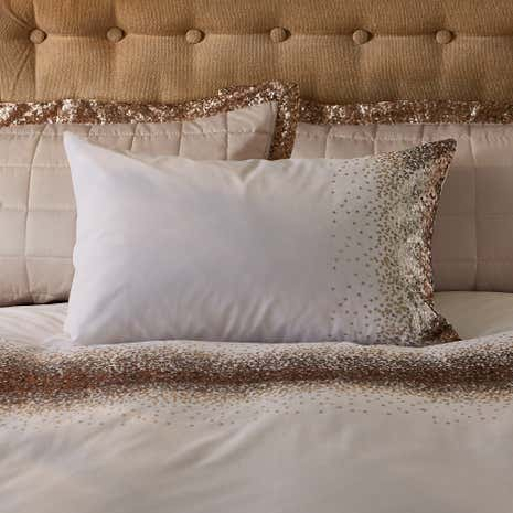 Luna Ombre Sequin Champagne Oxford Pillowcase