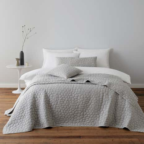 Pebble Grey Bedspread