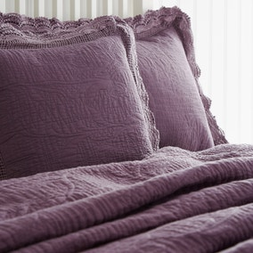 Lace Edge Plum Pillow Sham