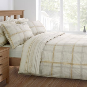 Rydall Ochre Duvet Cover and Pillowcase Set