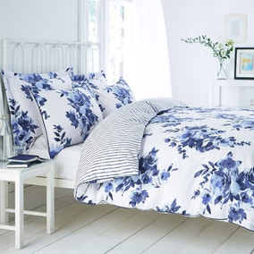 Saria Blue Duvet Cover and Pillowcase Set