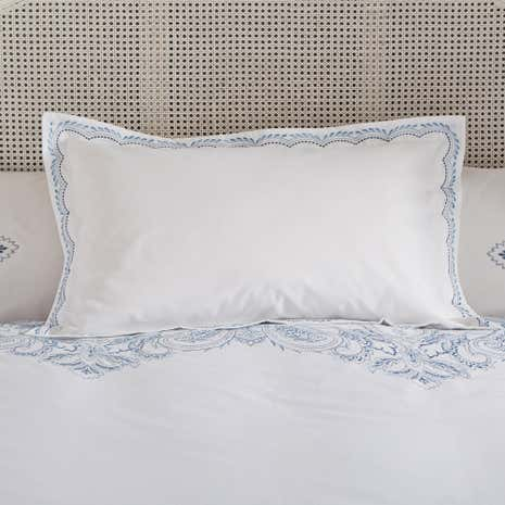 Taji Blue Oxford Pillowcase