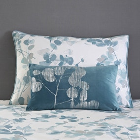 Velvet Metallic Teal Cushion