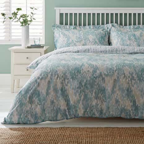 Waves Teal Duvet Cover and Pillowcase Set