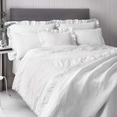 Frill Trim White Pillowsham