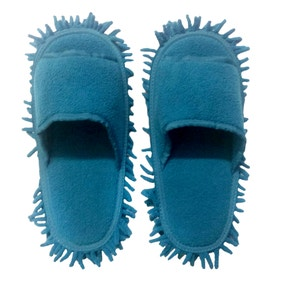 Teal Microfibre Cleaning Shoes