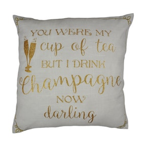 I Drink Champagne Cushion