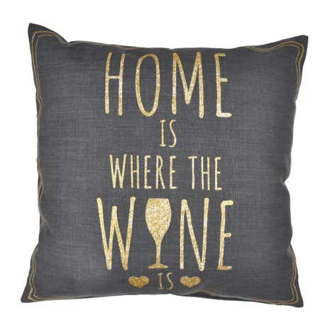 Home is Where The Wine is Cushion