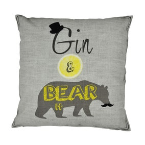 Gin and Bear it Cushion