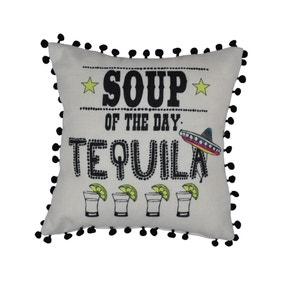 Soup of the Day Tequila Cushion