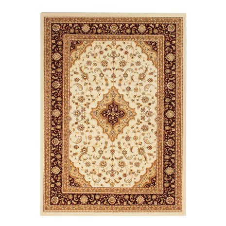 Cream and Red Pagoda Rug