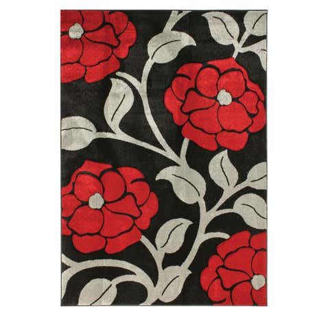 Extra Large Red Floret Rug