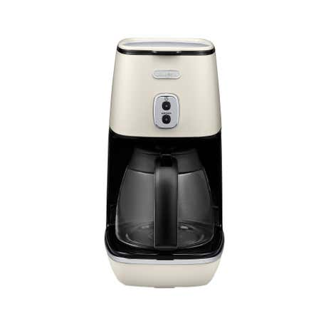 DeLonghi Distinta White Coffee Machine ICMI211W